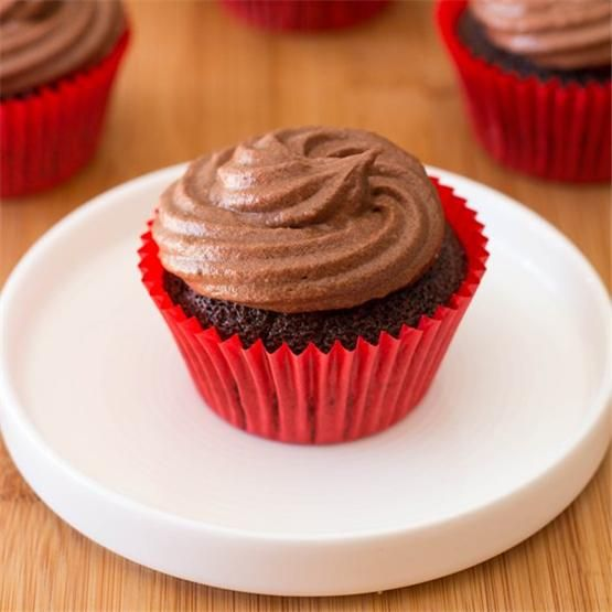 #chocolate #cupcakes by @grabyourspork