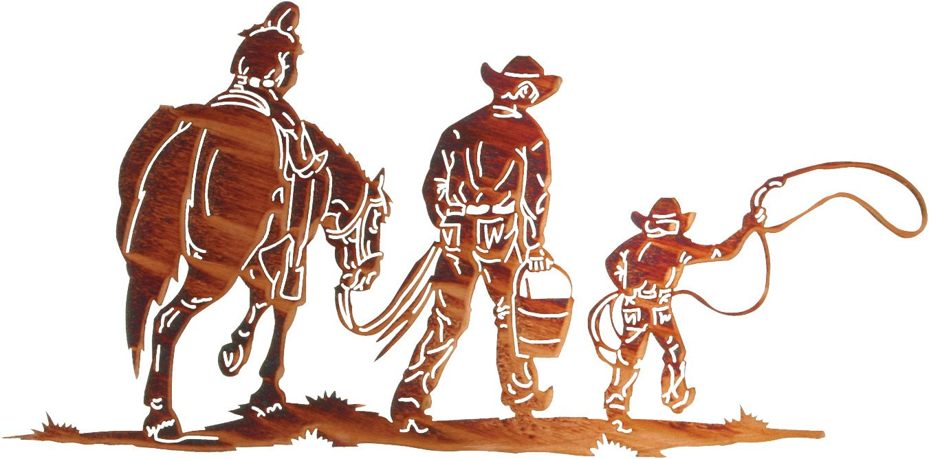 24 rustic country family by ron moore western metal art