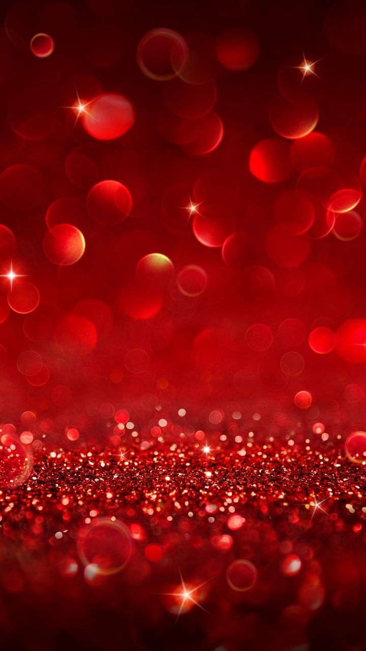 Red Sparkly Bokeh. Beautiful Glitter iPhone wallpapers
