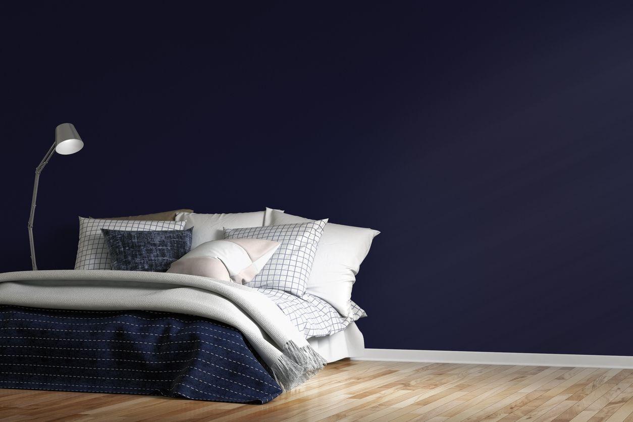 Slaapkamer Donkerblauw Ontzagwekkende Je Interieur Inrichten Met ...