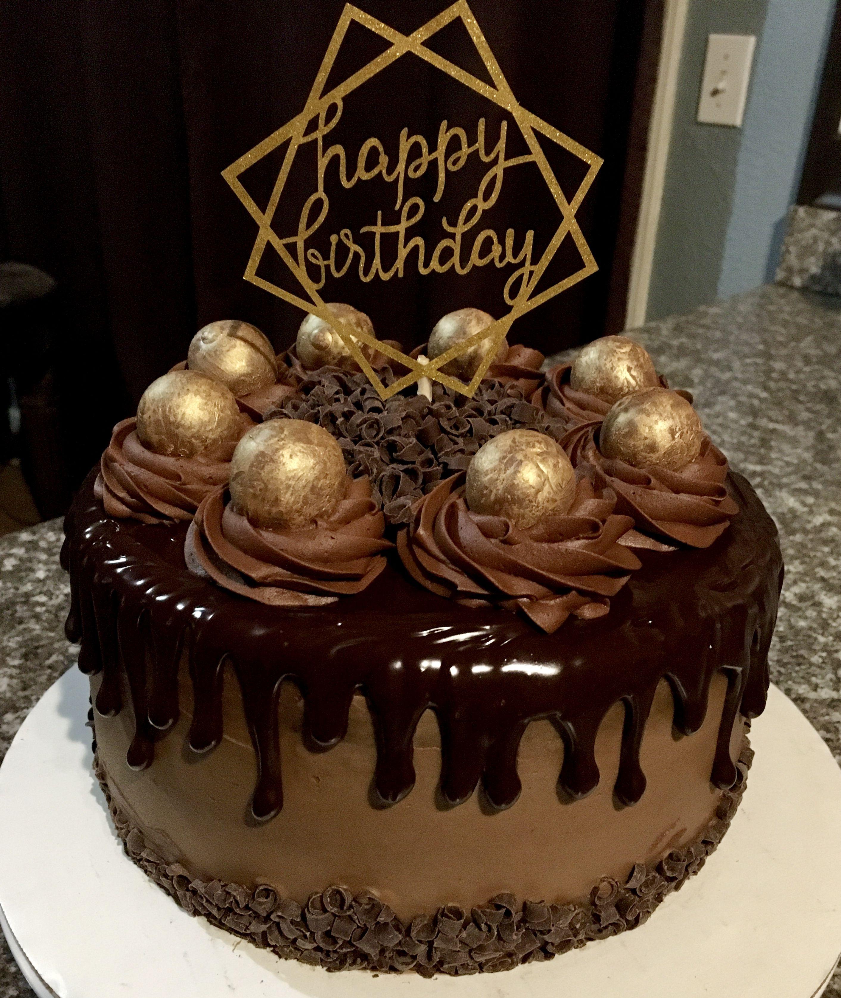Chocolate Truffle Cake Birthday Cake With Candles Chocolate Truffle Cake Cake