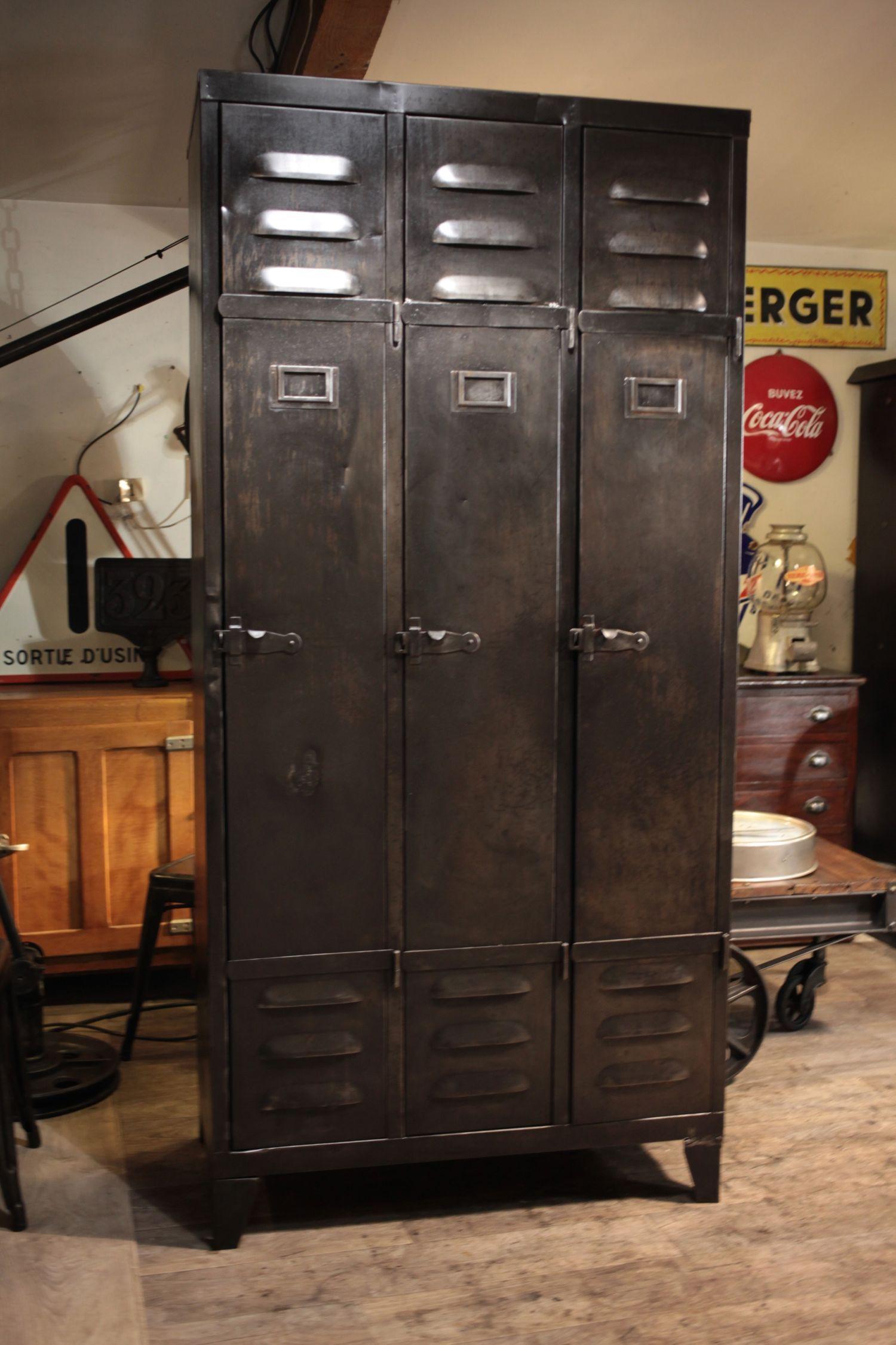 meuble industriel ancien deco loft | renover vestiaire | Pinterest ...