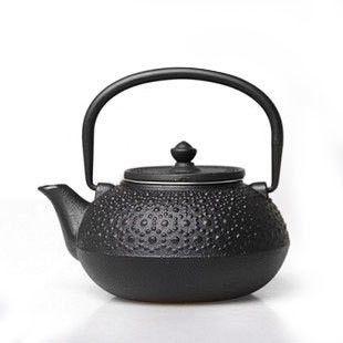 Japanese Kansai Black Spots Cast Iron Teapot Boite A The Heure
