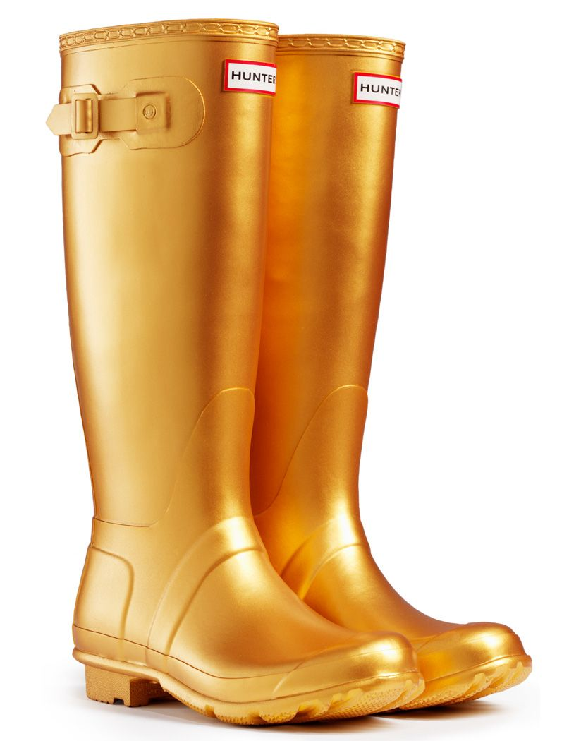 GOLD WELLIES!!!!