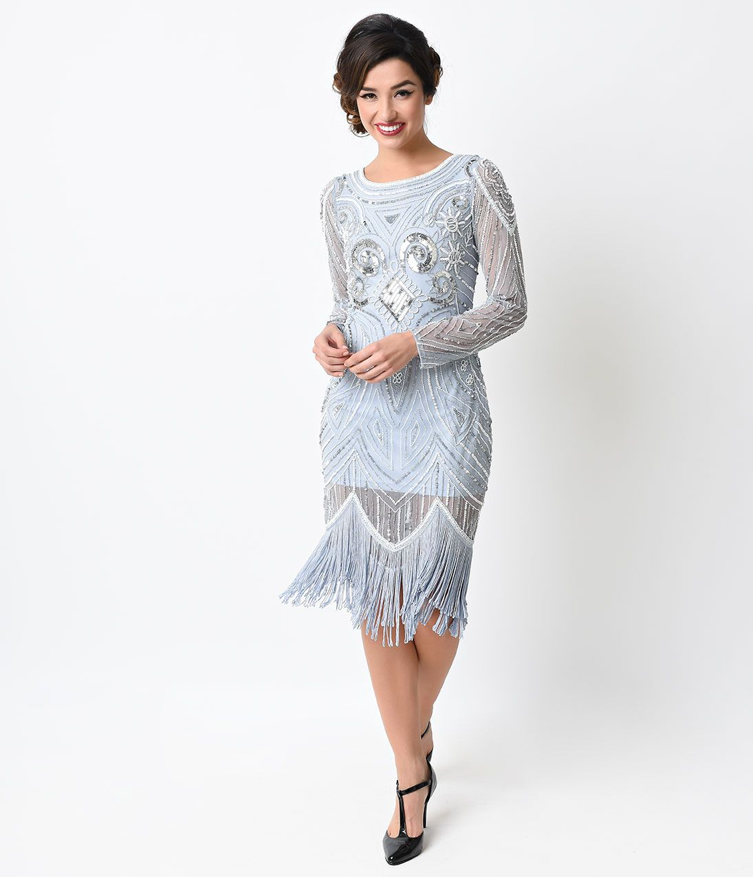 1920s Downton Abbey Inspired Clothing | Blue flapper dress, Cheap ...