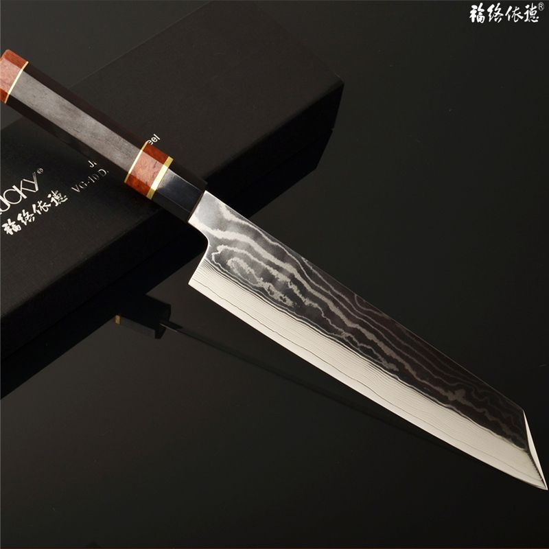 New Cooking Tools Anese Sashimi Knife Vg10 Steel Kitchen Sushi Fish Filleting Cuisine