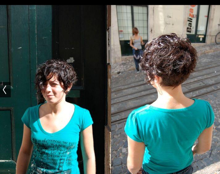 Short Curly Asymmetrical