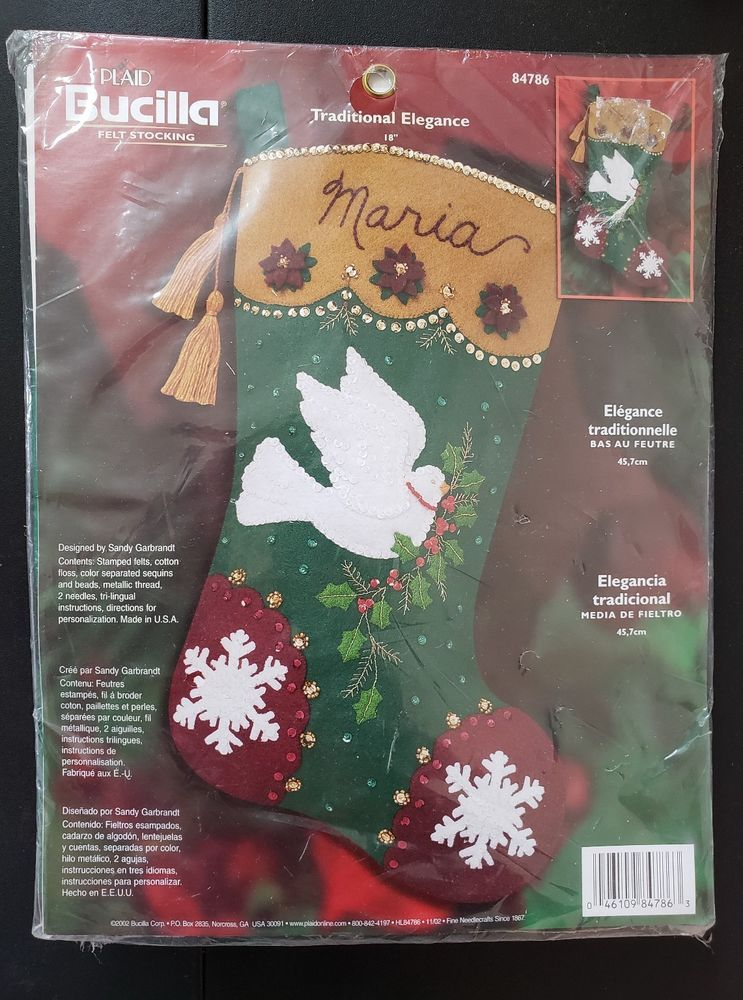Details about Felt Stocking KIT Bucilla 84786 Traditional Elegance