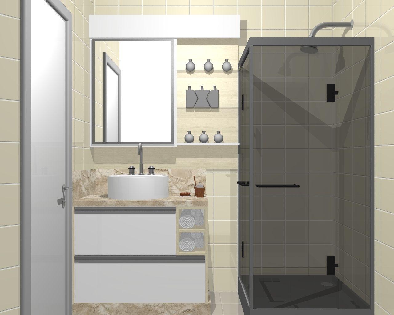porta de correr com espelho para banheiro - Pesquisa Google