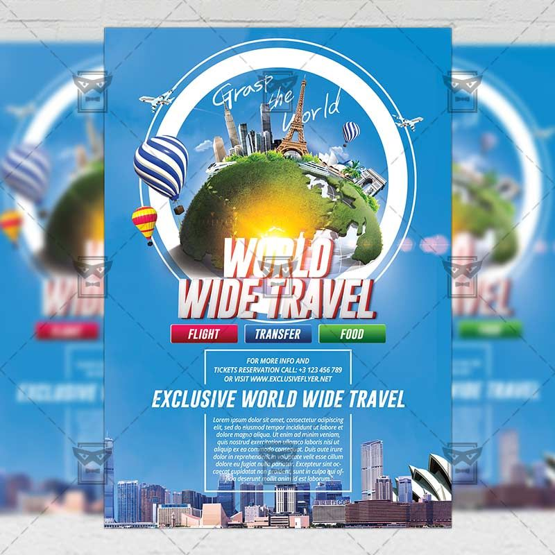 Grast The World Travel A5 Flyer Template Httpswww