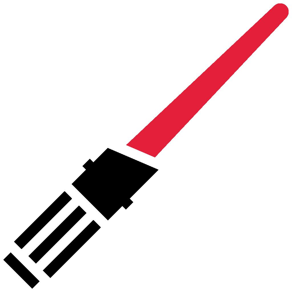 Risultati Immagini Per Lightsaber Rossa Star Wars Silhouette Star Wars Stencil Lightsaber