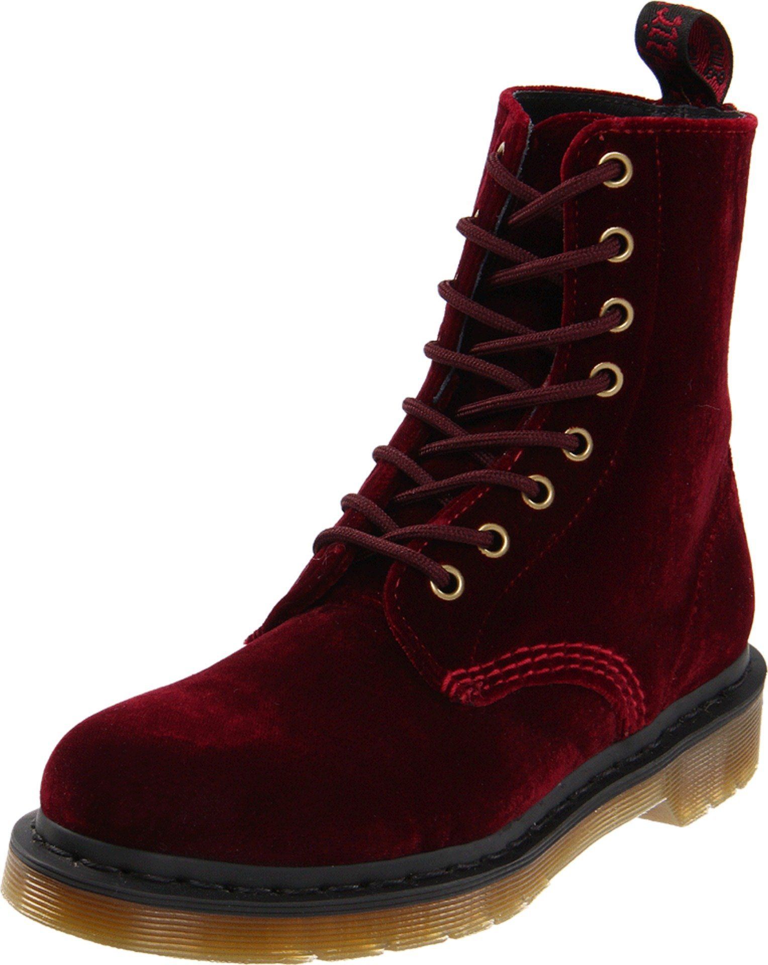 Dr. Martens Women's Page Boot,Cherry Red Zebra/Velvet, Leeanna would be