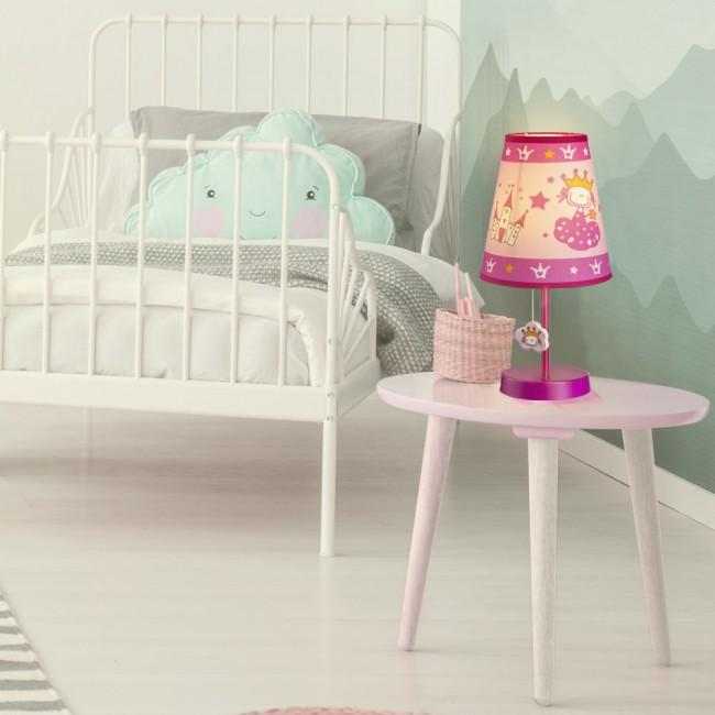 Princess Table Lamp For Children Wonderlamp Shop Childrens Table Lamps Childrens Bedrooms Pink Table Lamp