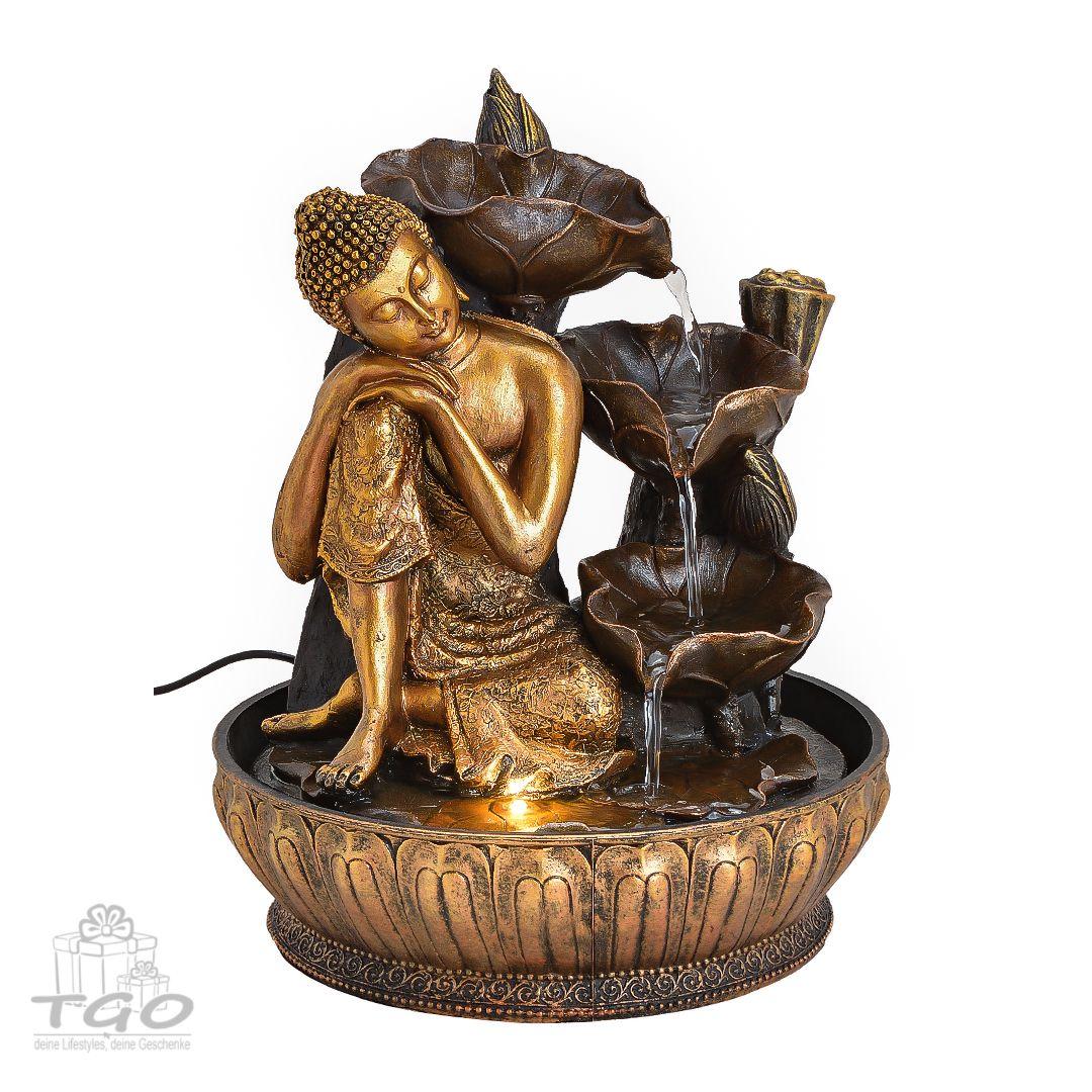 Led Zimmerbrunnen Buddha Wasserfall Hohe 30 Cm Zimmerbrunnen Buddha Figur Led