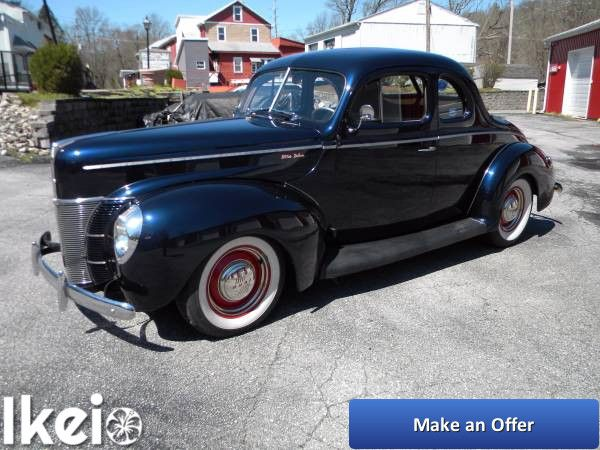 FOR SALE: Moonshine Runner! 1940 Ford All Metal Deluxe ...