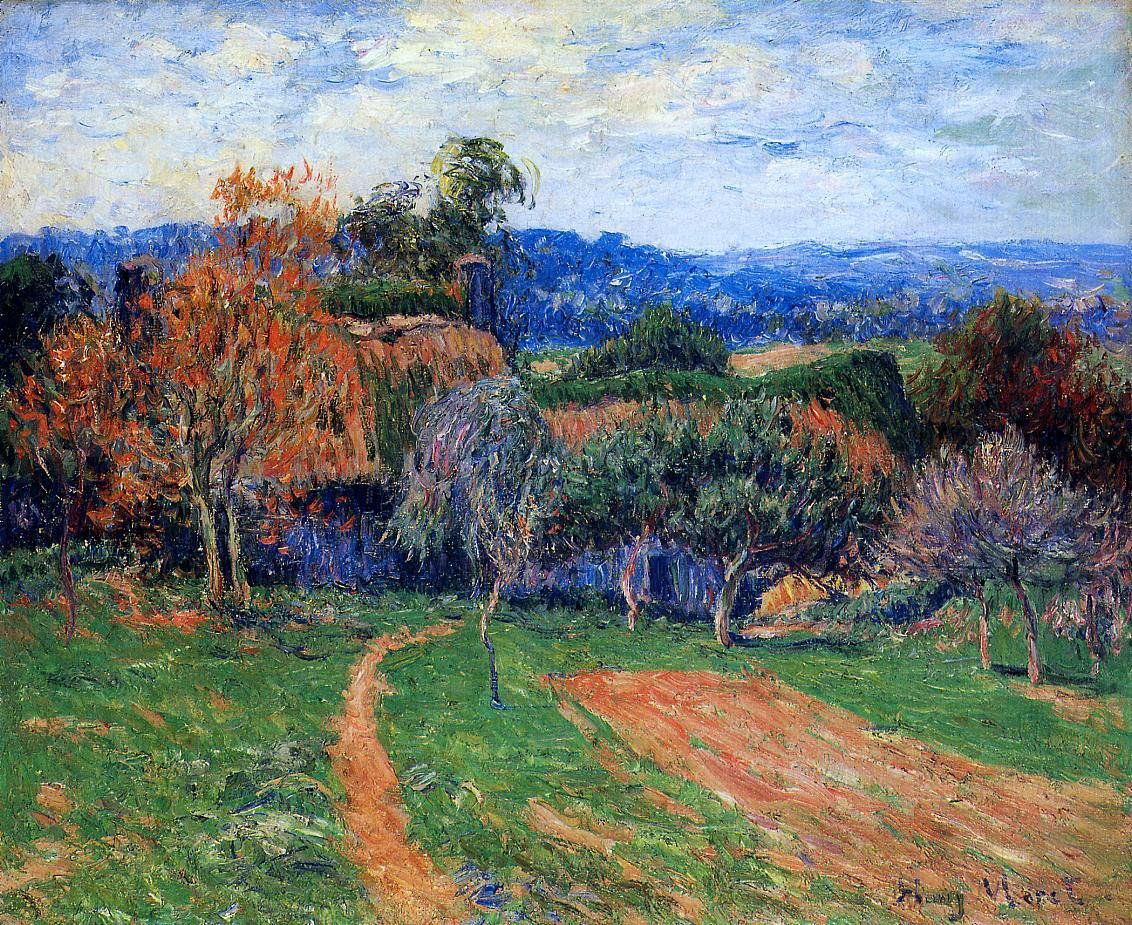 A farm near pont aven by henri moret hand painted oil