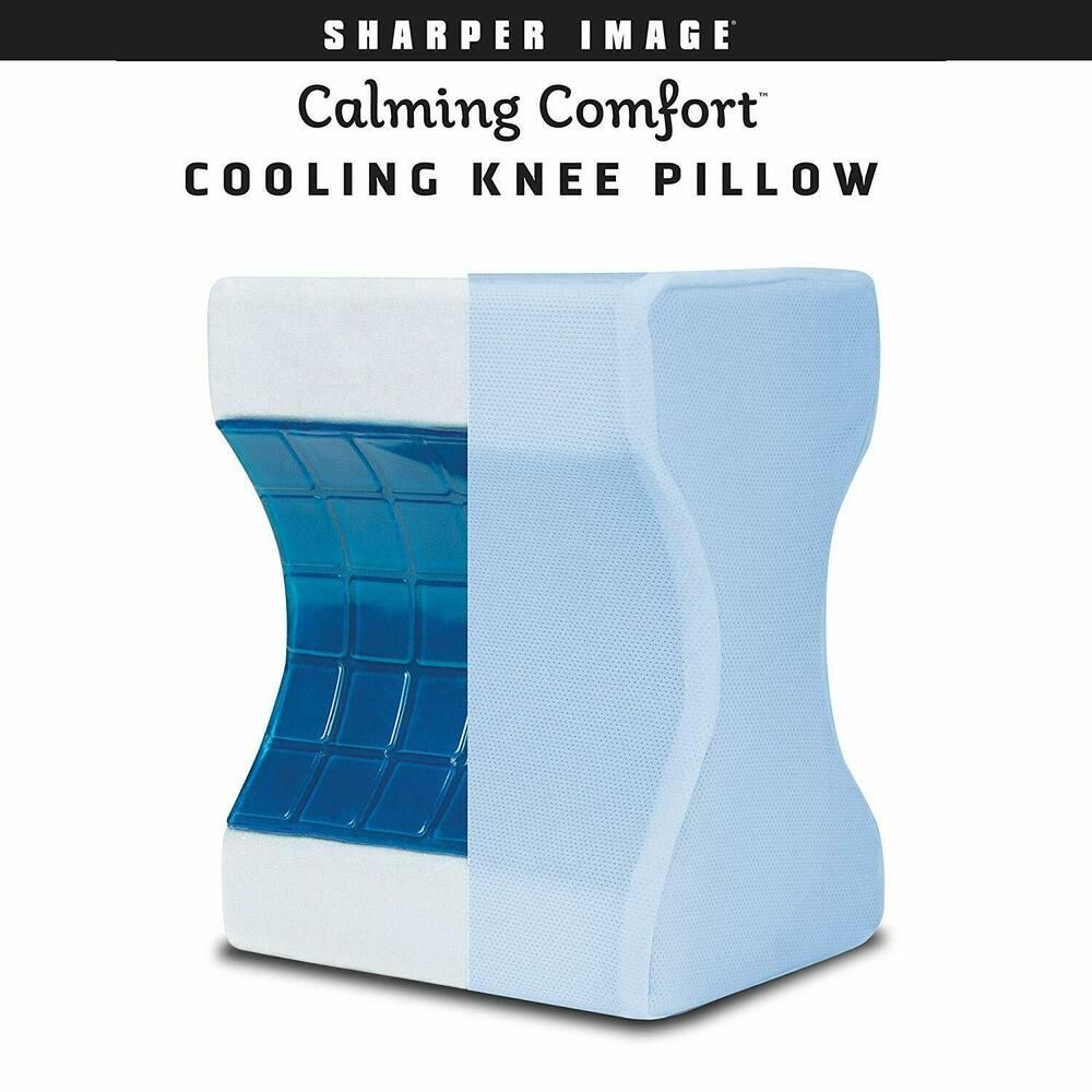 Details About Calming Comfort Cooling Knee Pillow By Sharper Image