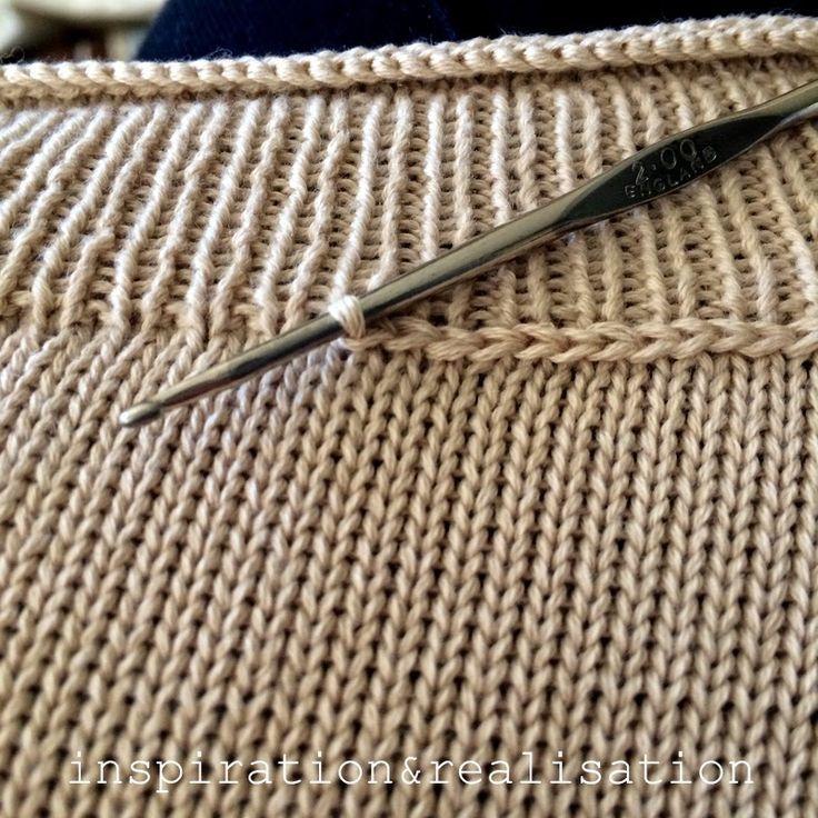 Inspiration und Realisierung: DIY Fashion Blog: DIY Intarsien Korallenpullover Inspir #knittinginspiration