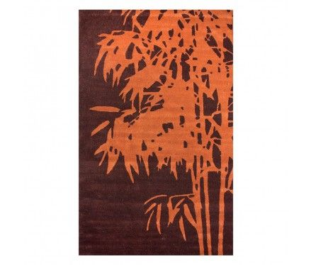 by Chic Rugs & Runners  Branch Rug, Orange