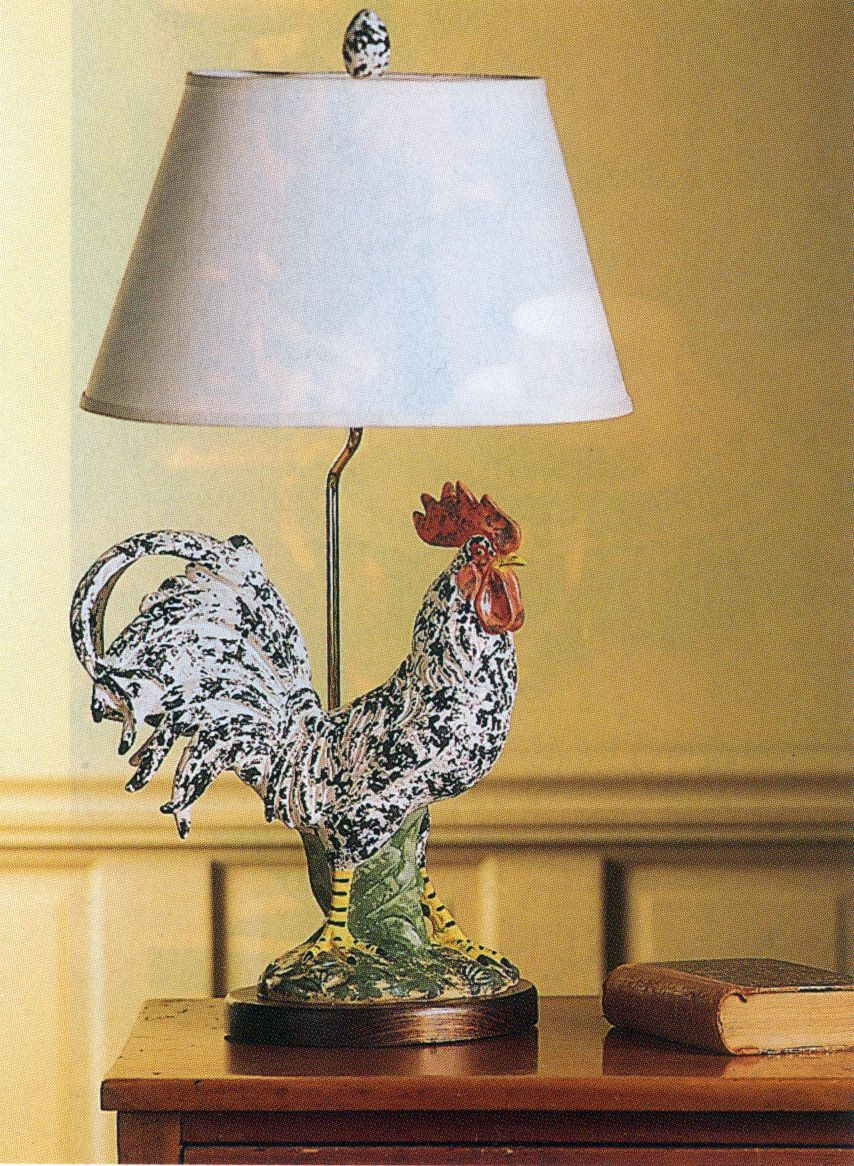 Rooster Lamp Chicken Rooster Decor Ideas Pinterest