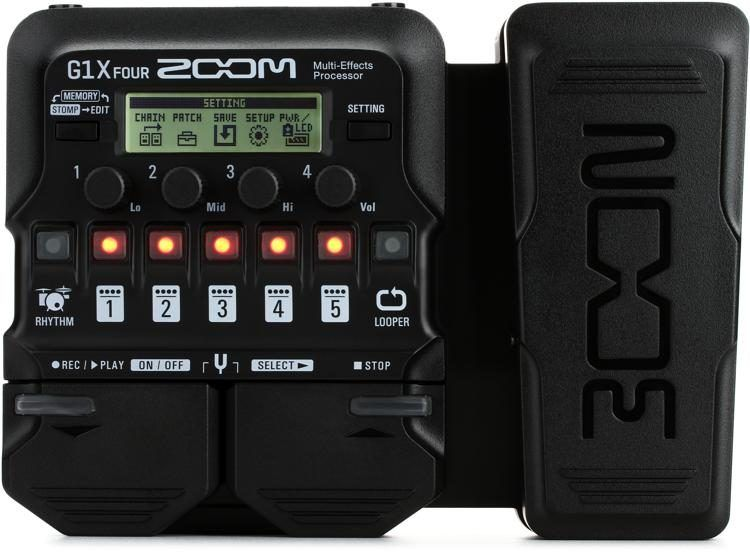 Zoom G1x Four Multi Effects Processor With Expression Pedal Sweetwater Listas De Desejos