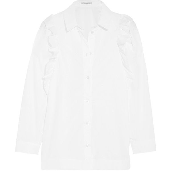 cdf27d4398846 Simone Rocha Ruffled cotton shirt (970 PEN) ❤ liked on Polyvore featuring  tops