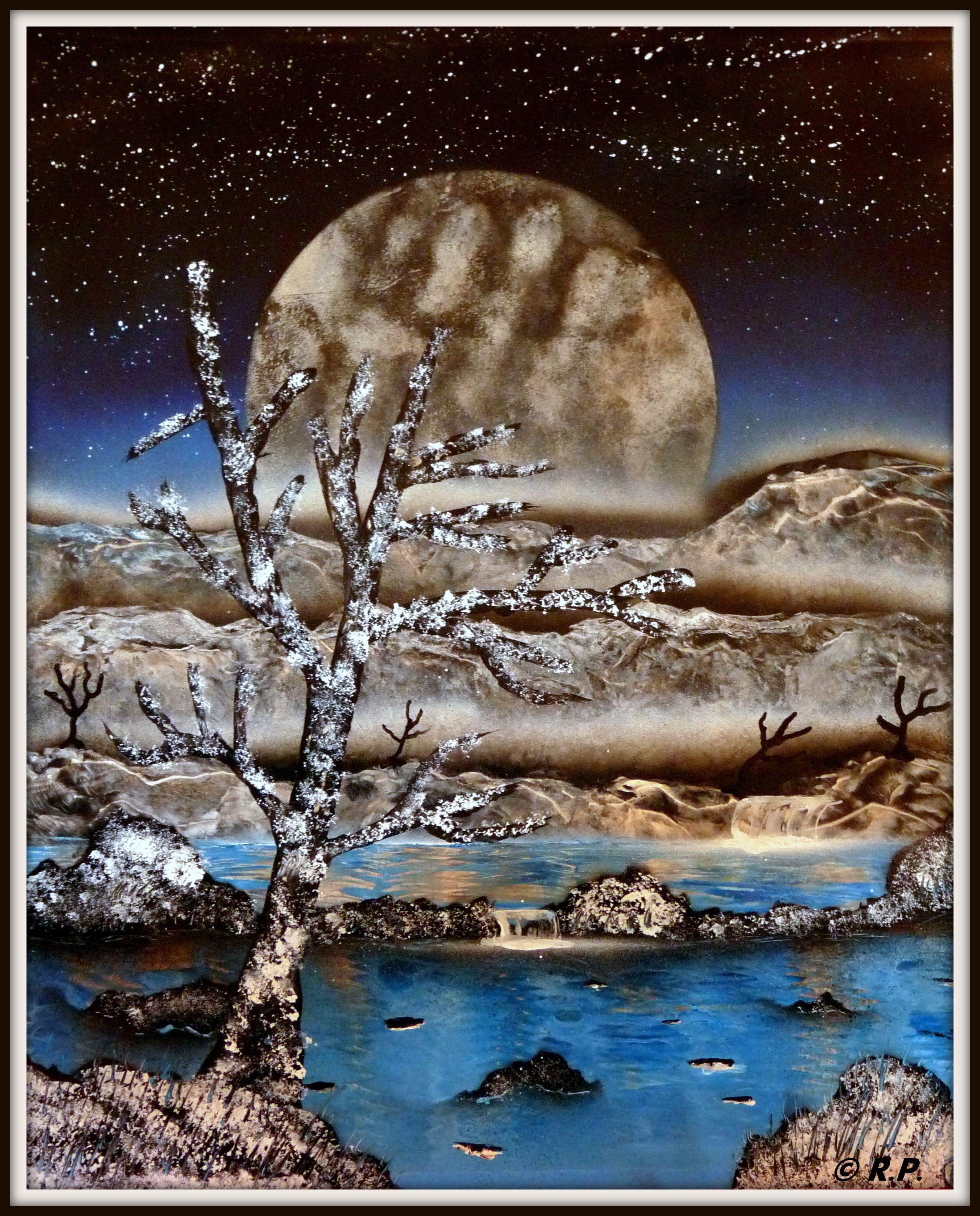 Snowy Moon 40 x 50 cm. € 40,=  © Robbin Pronk