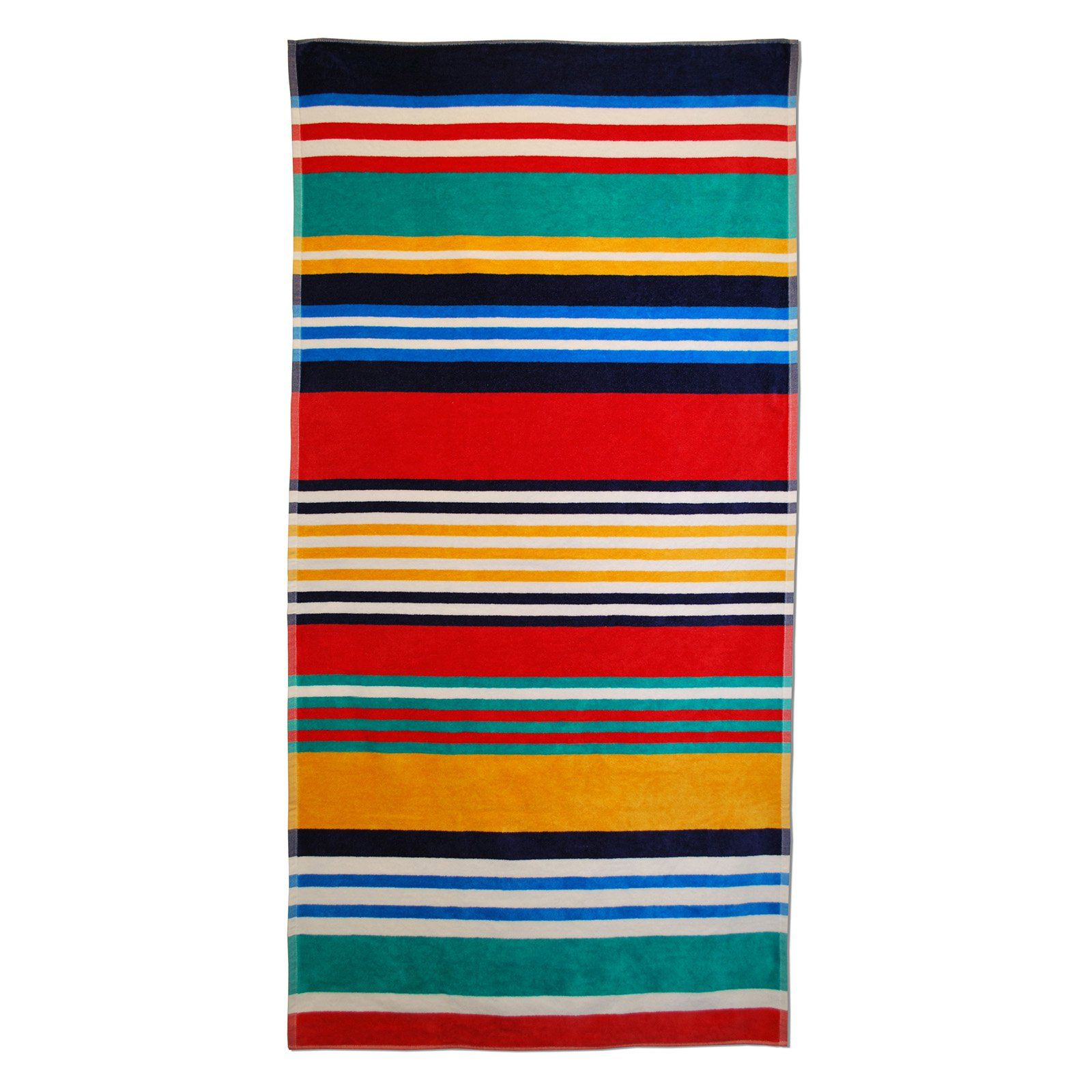 Superior Thick And Plush Multicolor Stripes Beach Towel Striped