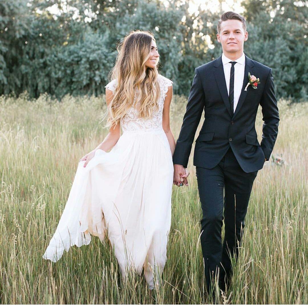 Modest wedding dress with cap sleeve from alta moda modest