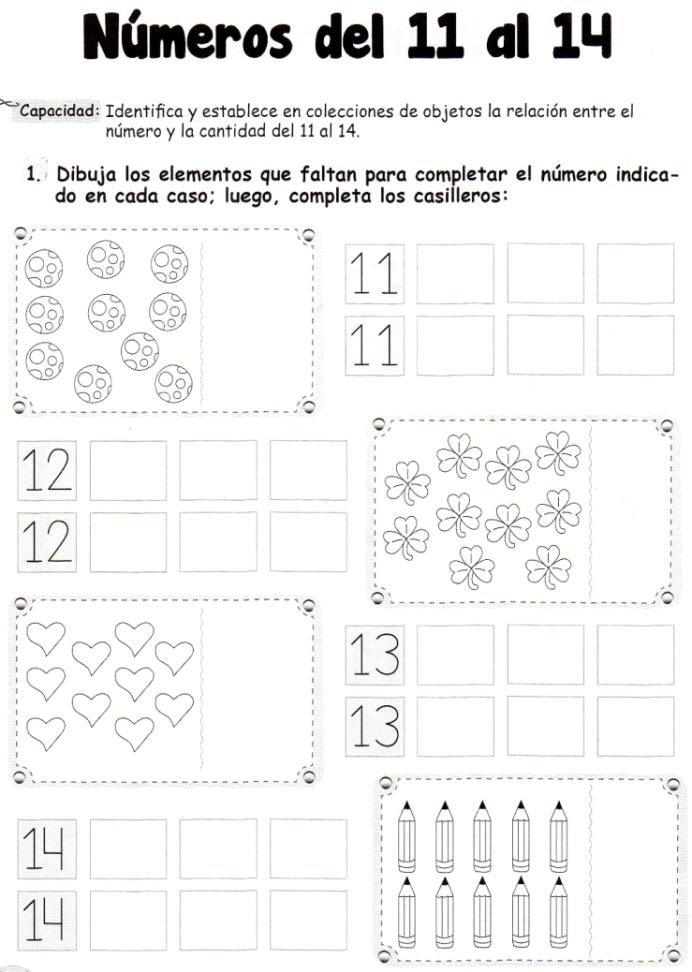 Actividad Dibuja Los Elementos Que Faltan Para Completar El Número