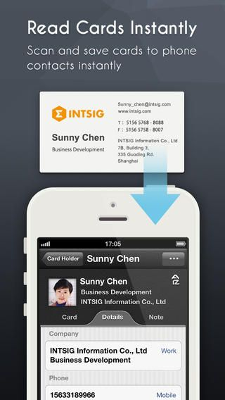 Top iphone game 107 camcard business card scanner business top iphone game 107 camcard business card scanner business card reader scan card intsig information coltd by intsig information coltd 0419 reheart Images