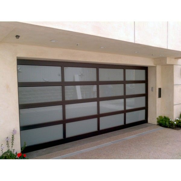 Modern Clic 16 X7 Aluminum Framed Contemporary Garage Door