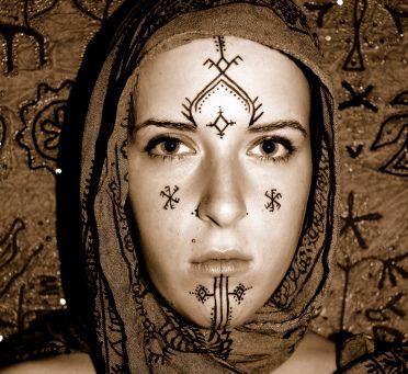 exemple de tatoo berbere   motifs [berbère] [tatouages]   berber