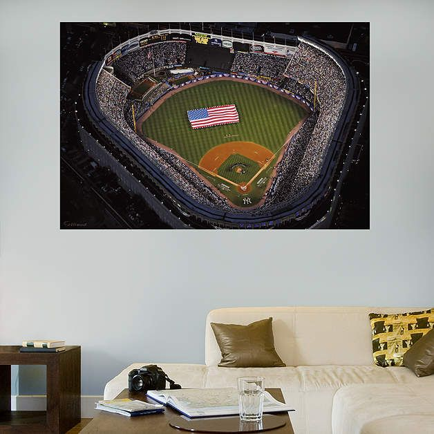 Old Yankee Stadium Aerial Mural Fathead Wall Decal