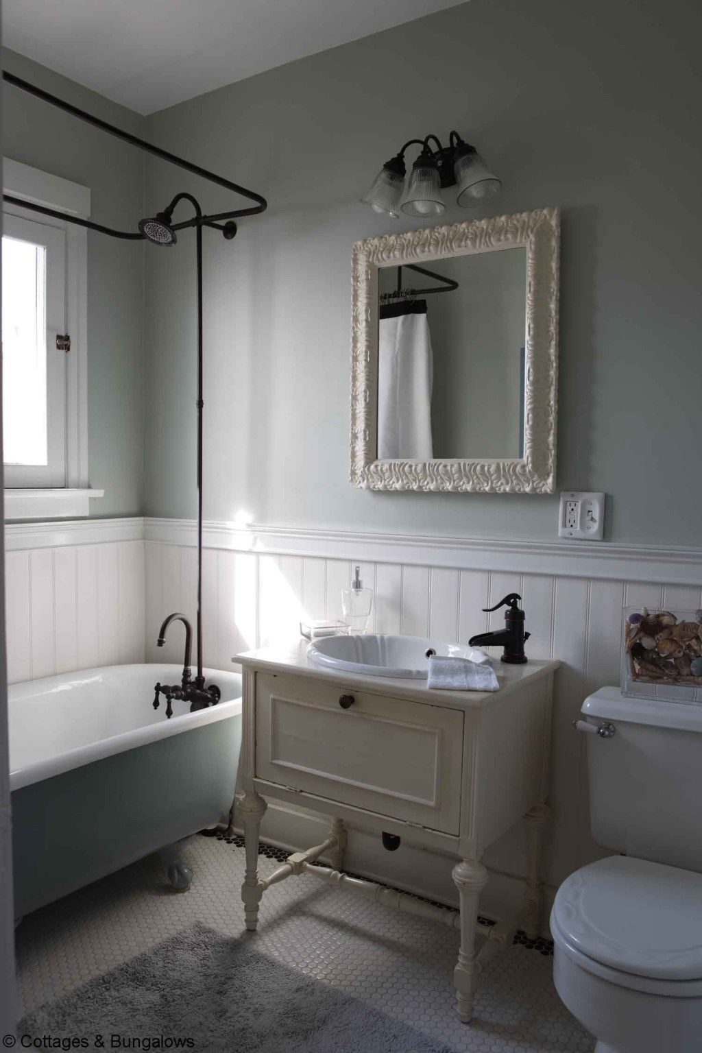 Wonderful Half Vintage Bathroom With Old White Single Wonderful Half Vintage Bathroom With Old White Single Sink Vanities