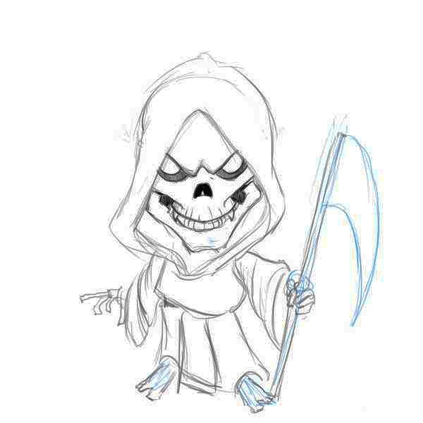 Drawings Grim Reaper Drawings Step 5 In 2019 Reaper