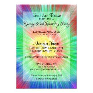 retro 70s party invitation template Dye Hippie Invitation