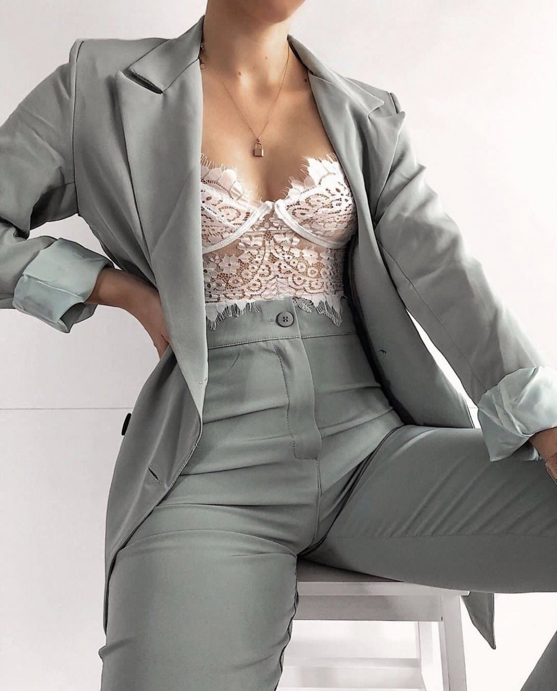 Womens Pant Suit With Bralette