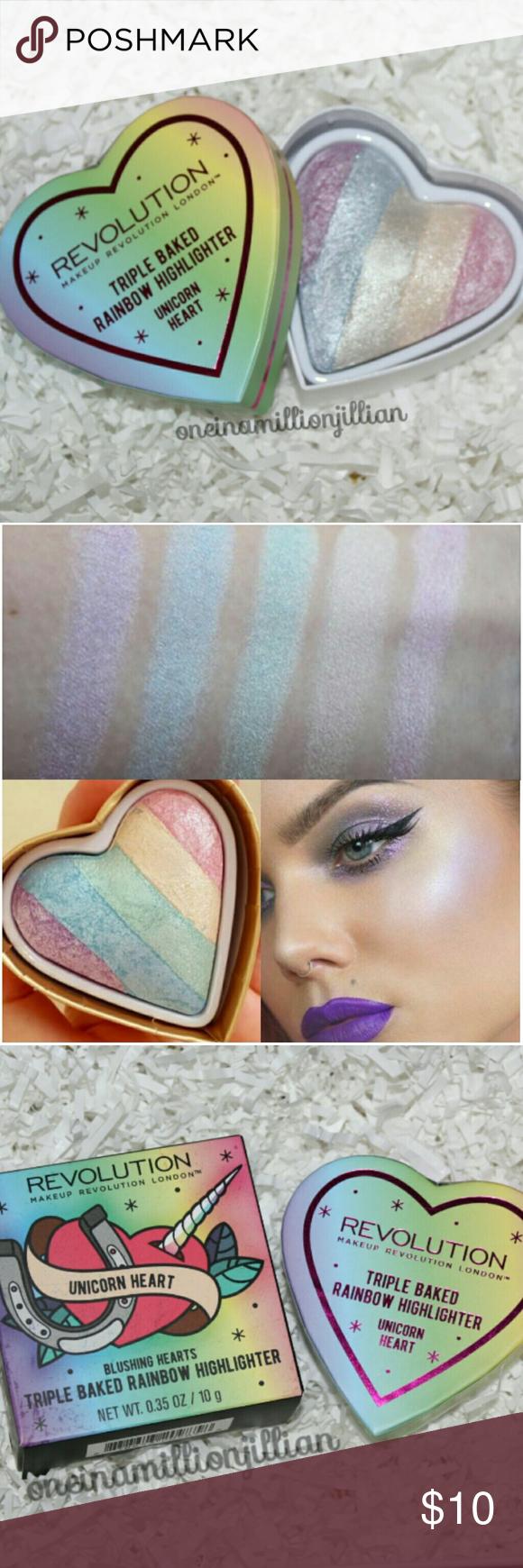 Makeup Revolution Rainbow Highlighting Powder New in Box