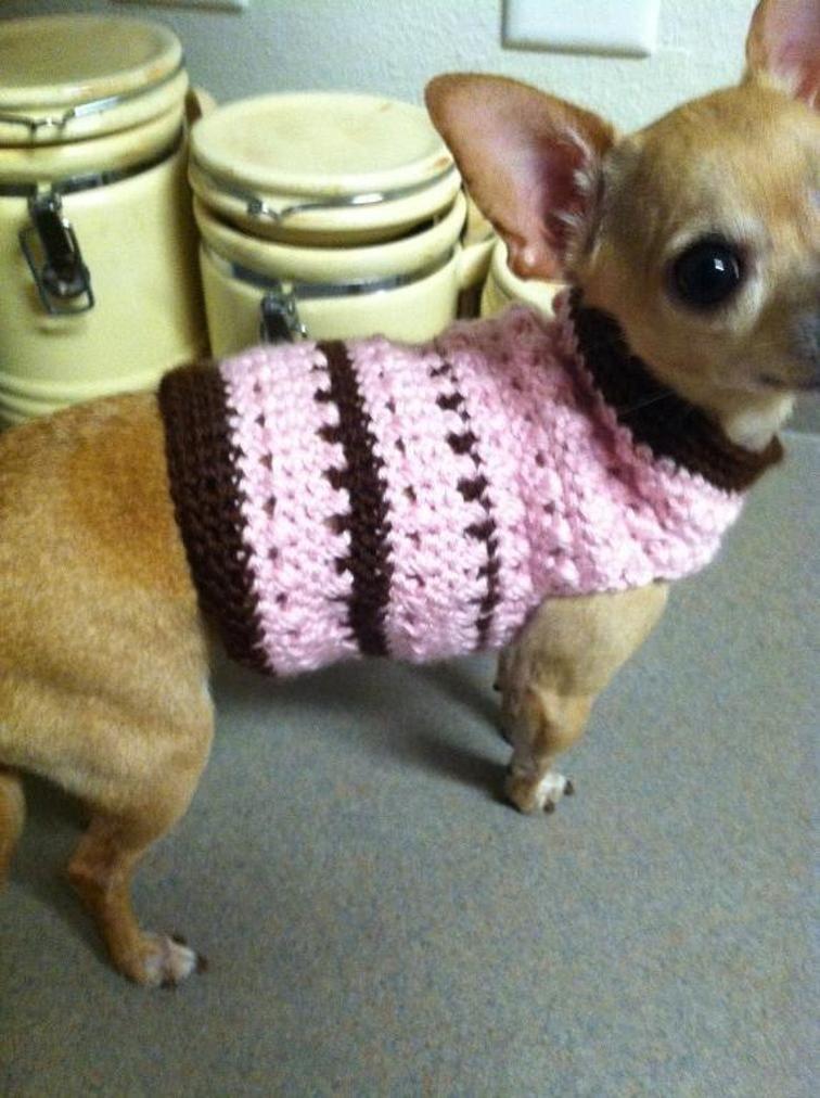 Criss Cross Dog Sweater - Size XS