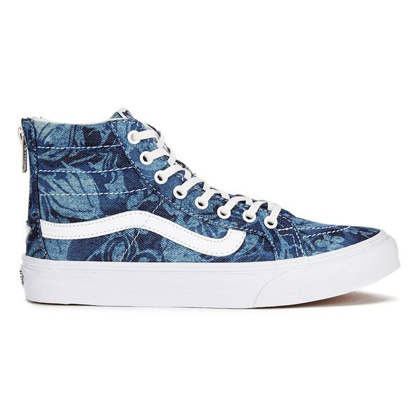 3a0de6026b Vans Women s Sk8-Hi Slim Zip Indigo Tropical Trainers - Blue True... ( 56)  ❤ liked on Polyvore featuring shoes