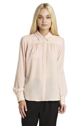 Long-Sleeve High-Low Shirt
