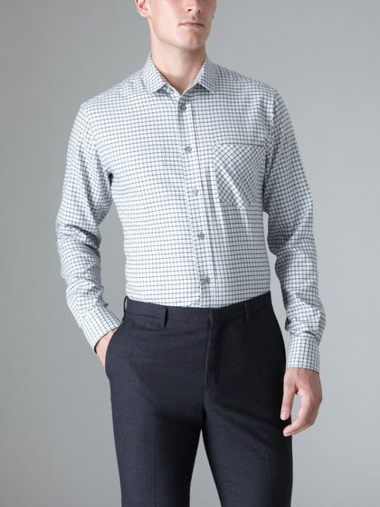 Semi spread collar shirt by d s dundee on men for Semi spread collar shirt