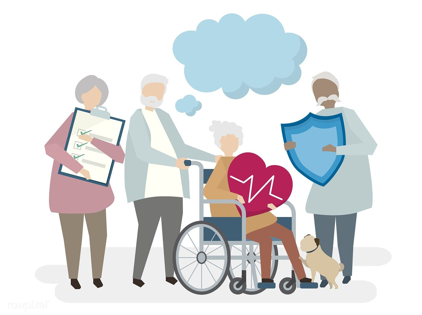 Download premium illustration of illustration of seniors