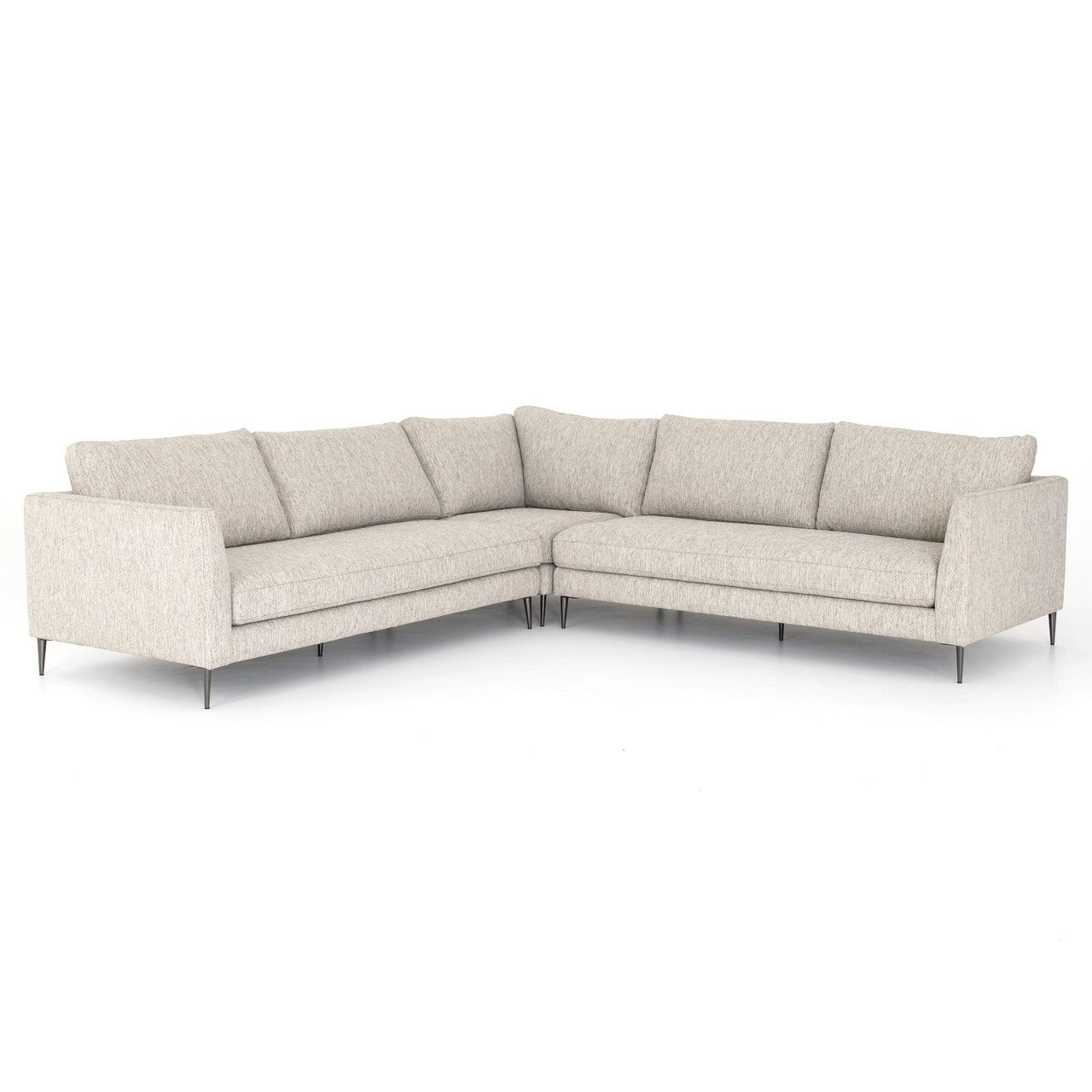 Kailor Modern Neutral Fabric Corner Sectional Sofa With Images