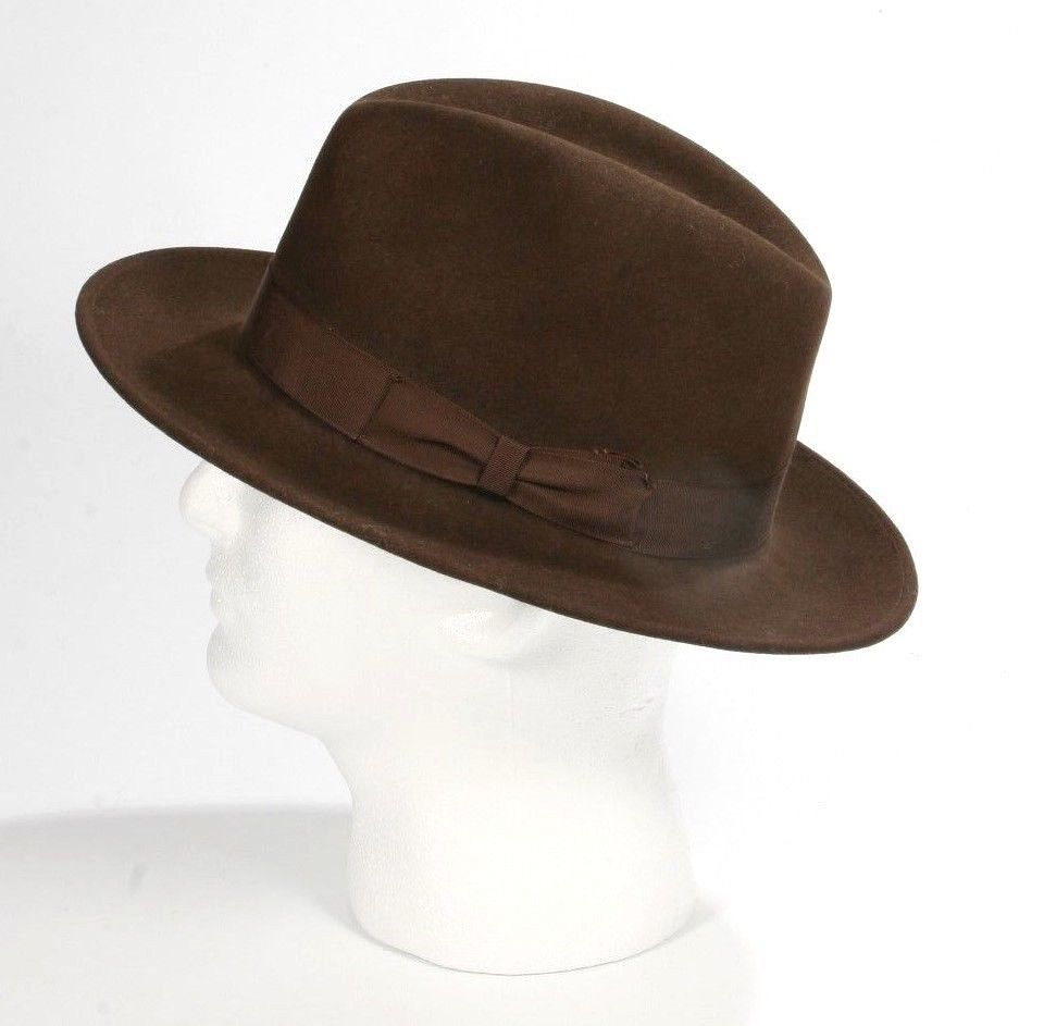 cd0df4610bd Vintage 1950 s Borsalino Grand Prix Paris 1900 Brown Fedora Men s Hat Sz  Medium  Borsalino  Fedora  DressWeddingPartyChurchCasual