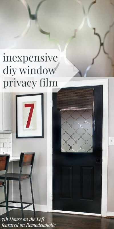 Next up in All Things Windows: a simple and inexpensive way to add some privacy to a window while still letting in light. Look at the gorgeous pattern that ... & DIY Window Privacy Film Using Contact Paper (Remodelaholic ...