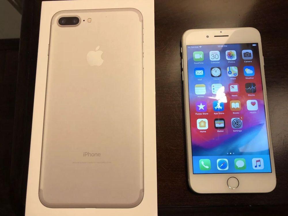Apple Iphone 7 Plus 128gb Silver Unlocked A1661 Cdma Gsm Apple Iphone Iphone 7 Plus Iphone