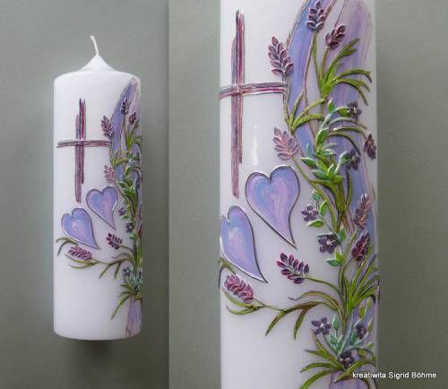Hochzeitskerze Lavendel Dw 281 Kerzen Kerzen Verzieren Kerzen