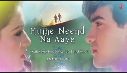 Mujhe Neend Na Aaye Hindi Song Aamir Khan Romantic Songs Lyrics